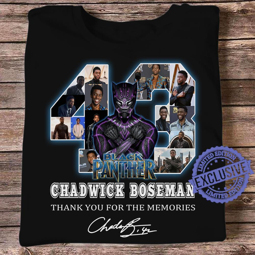 43 Black panther chadwick boseman thank you for the memories shirt