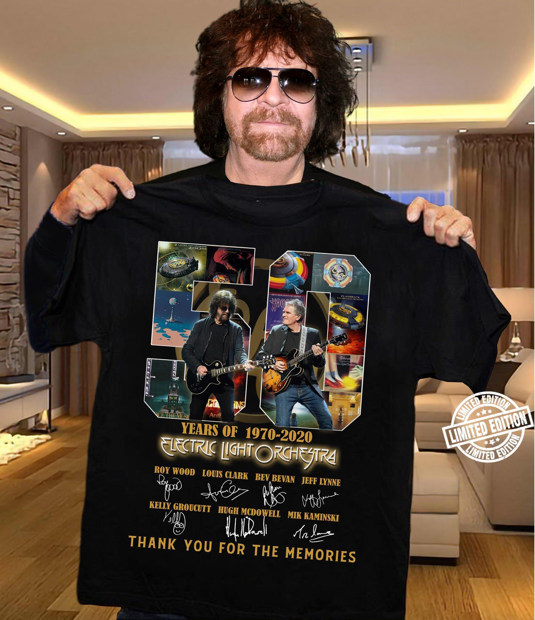50 Years of 1970-2020 thank you for the memories shirt