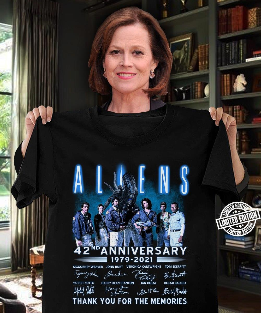 Allens 42nd anniversary 1979-2021 thank you for th memories shirt