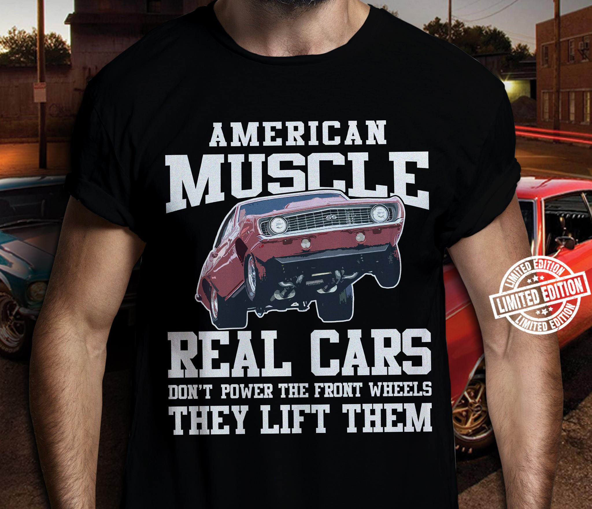 American muscle real cars shirt