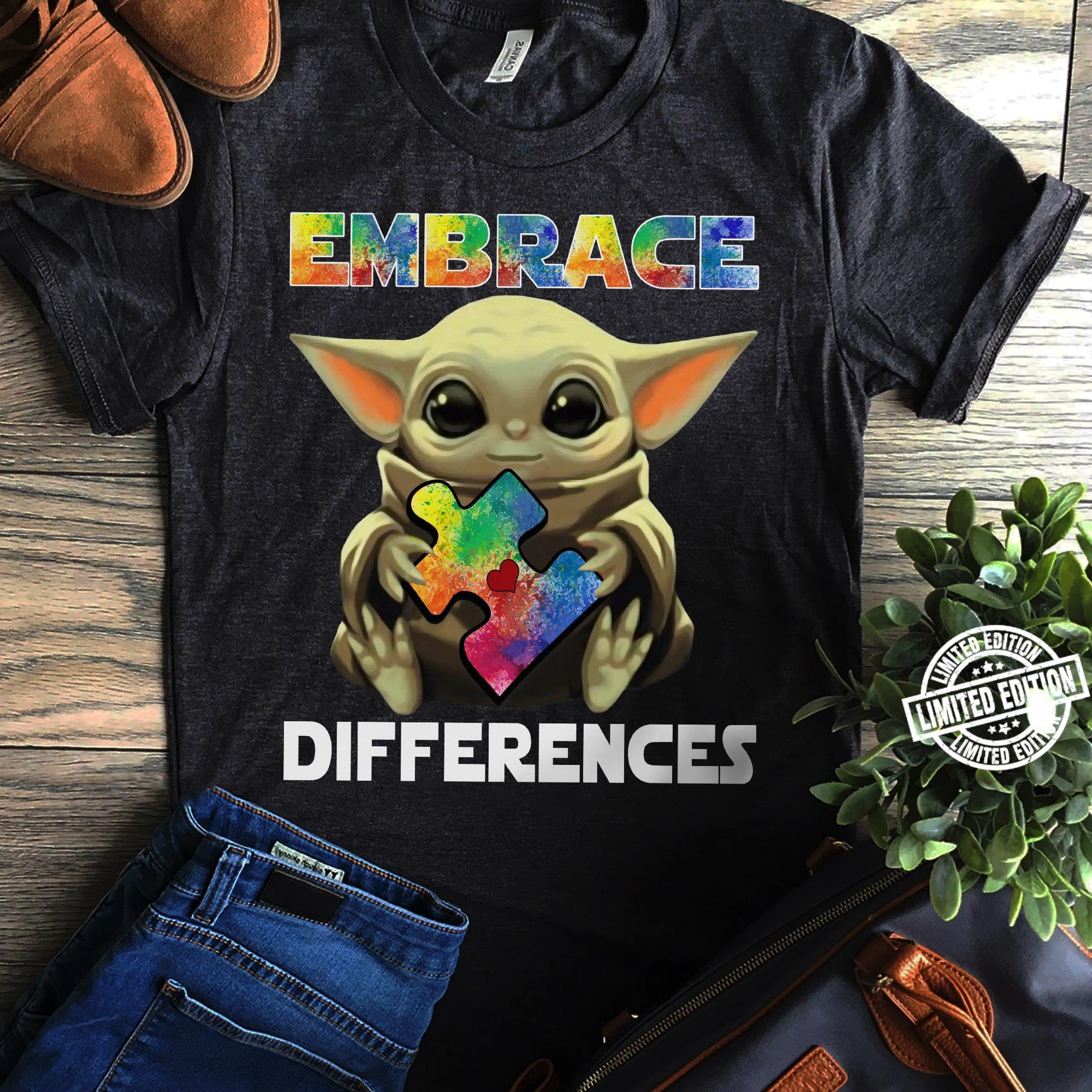 Baby Yoda Embrace Differences Shirt