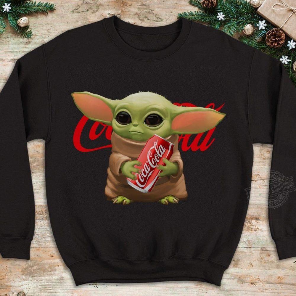 Baby Yoda Hug Coca Cola Shirt