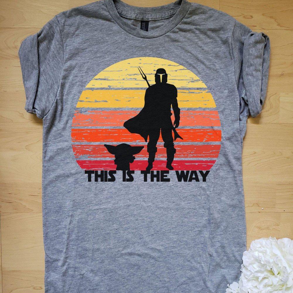 Baby Yoda and Mandalorian this is the way Shirt