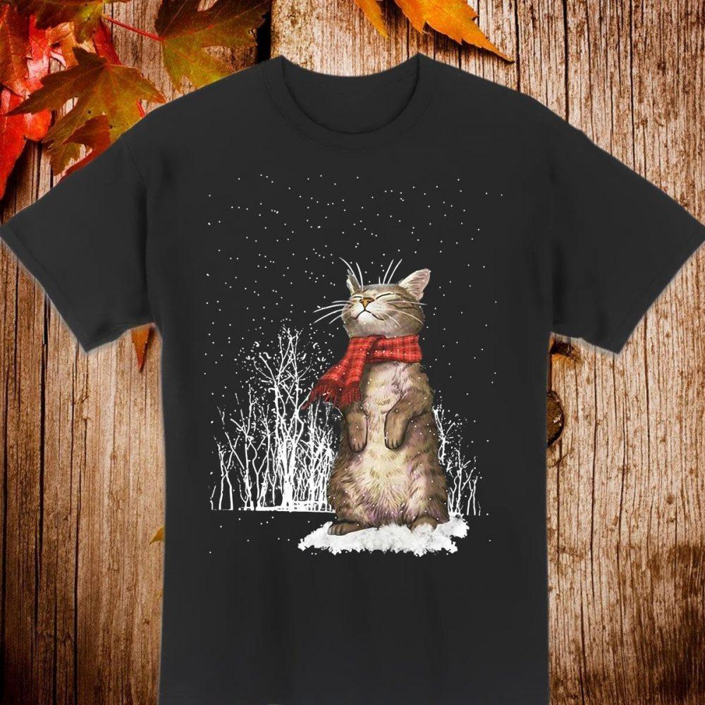 Cat under snow cute Shirt