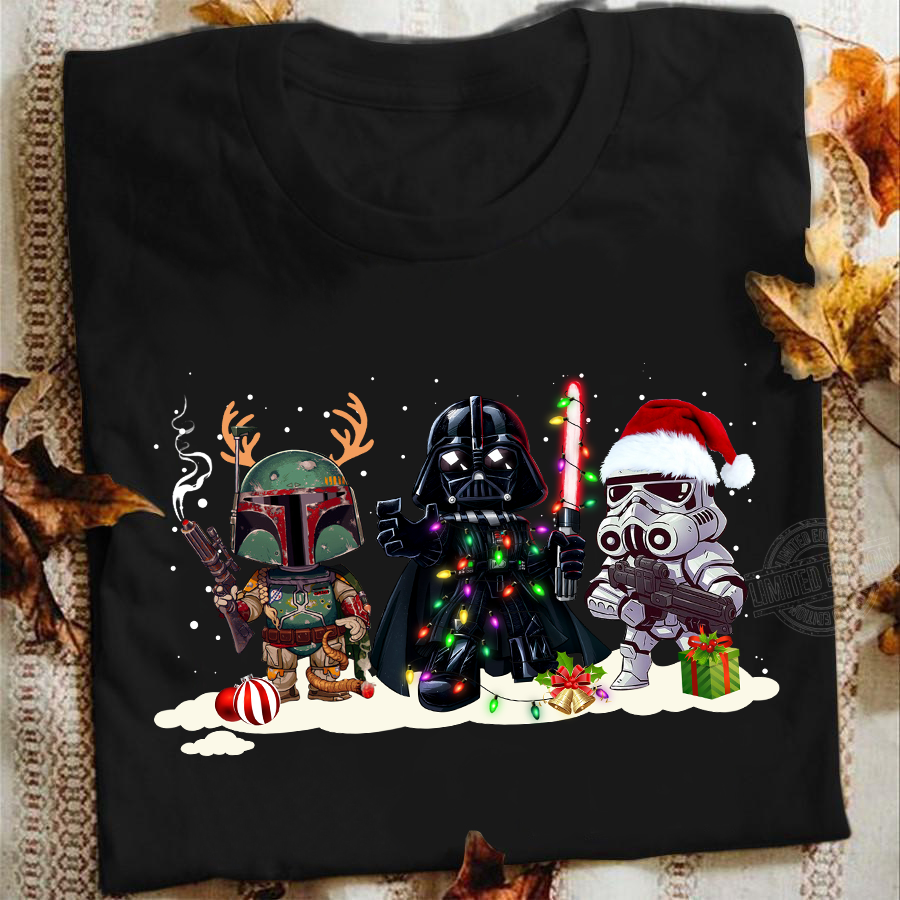 Christmas and Star Wars Mira Family Shirt