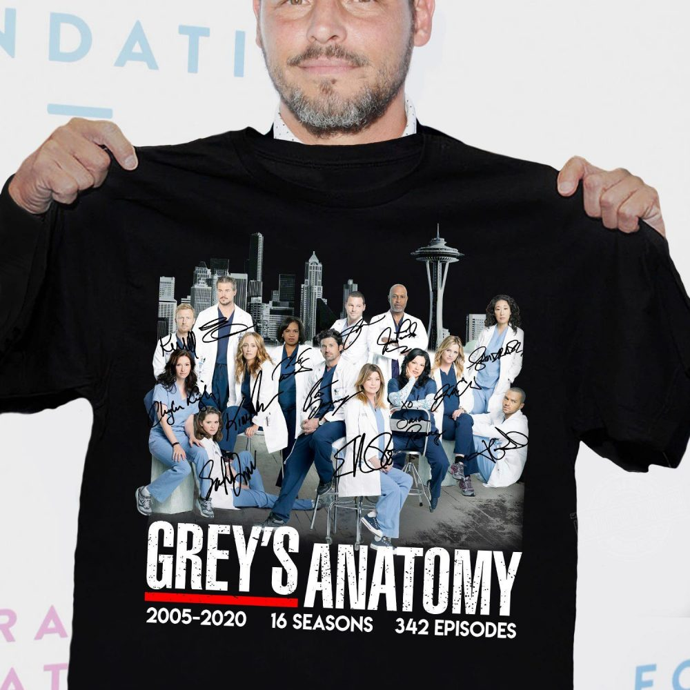 Grey's anatomy 2005-2020 16 seasons 342 episodes Shirt