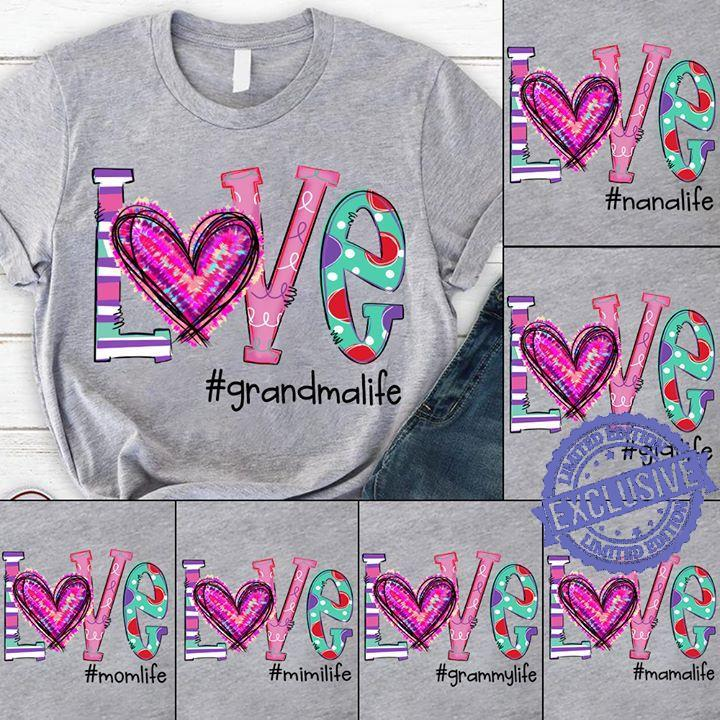 Love grandma life shirt
