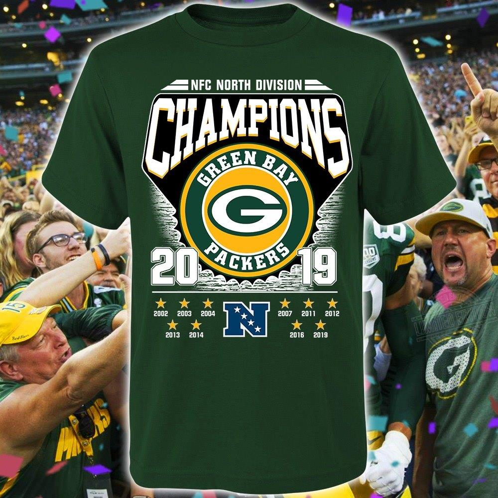 NFC North Division Champions Green Bay Packers 2019 Shirt