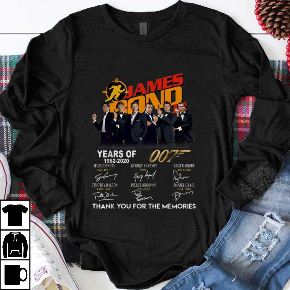 Official James Bond 50 Years Of 007 1962-2020 Signatures Shirt