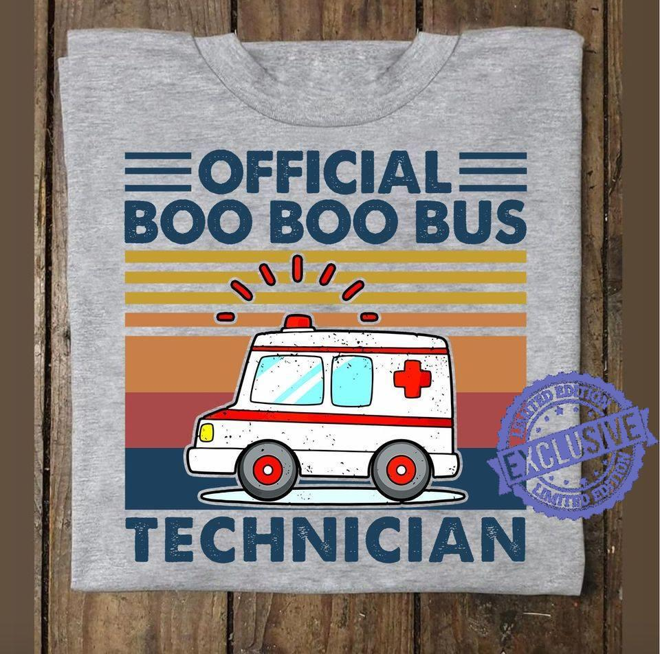 Official boo boo bus technician shirt