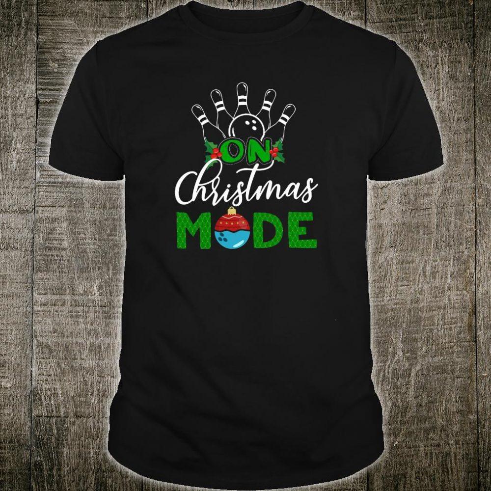 On Christmas mode shirt