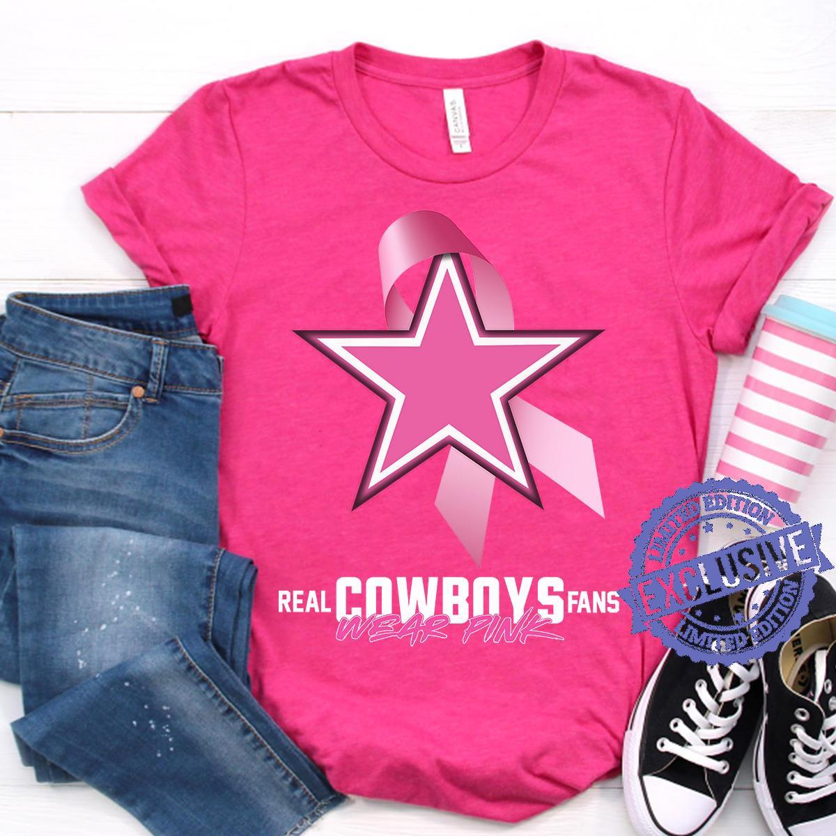 Real cowboys fans wear pink shirt