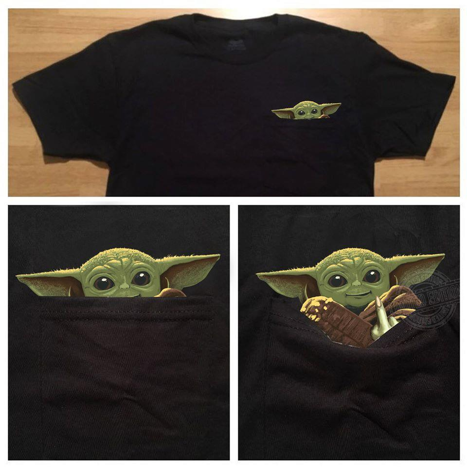 Star Wars Baby Yoda Give a F..k Pocket Shirt
