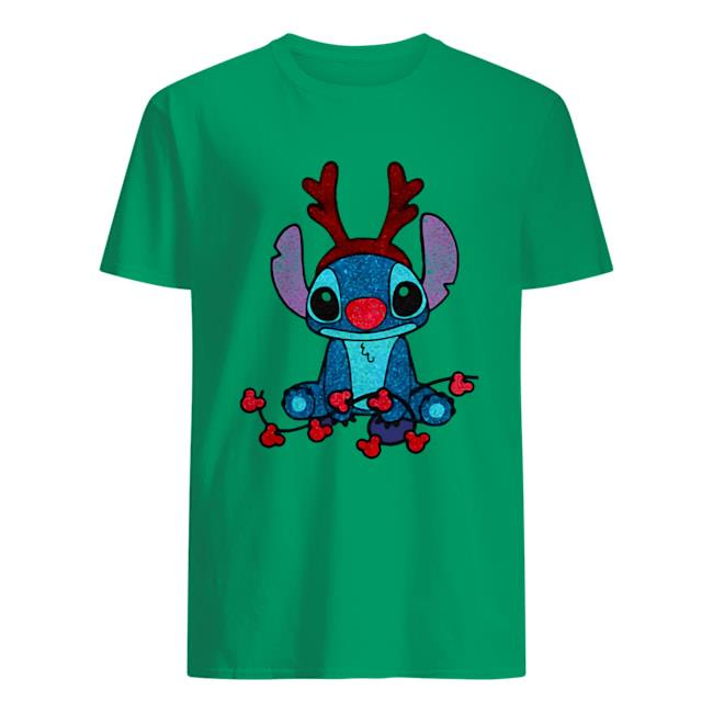 Stitch Reindeer Diamond Christmas Shirt