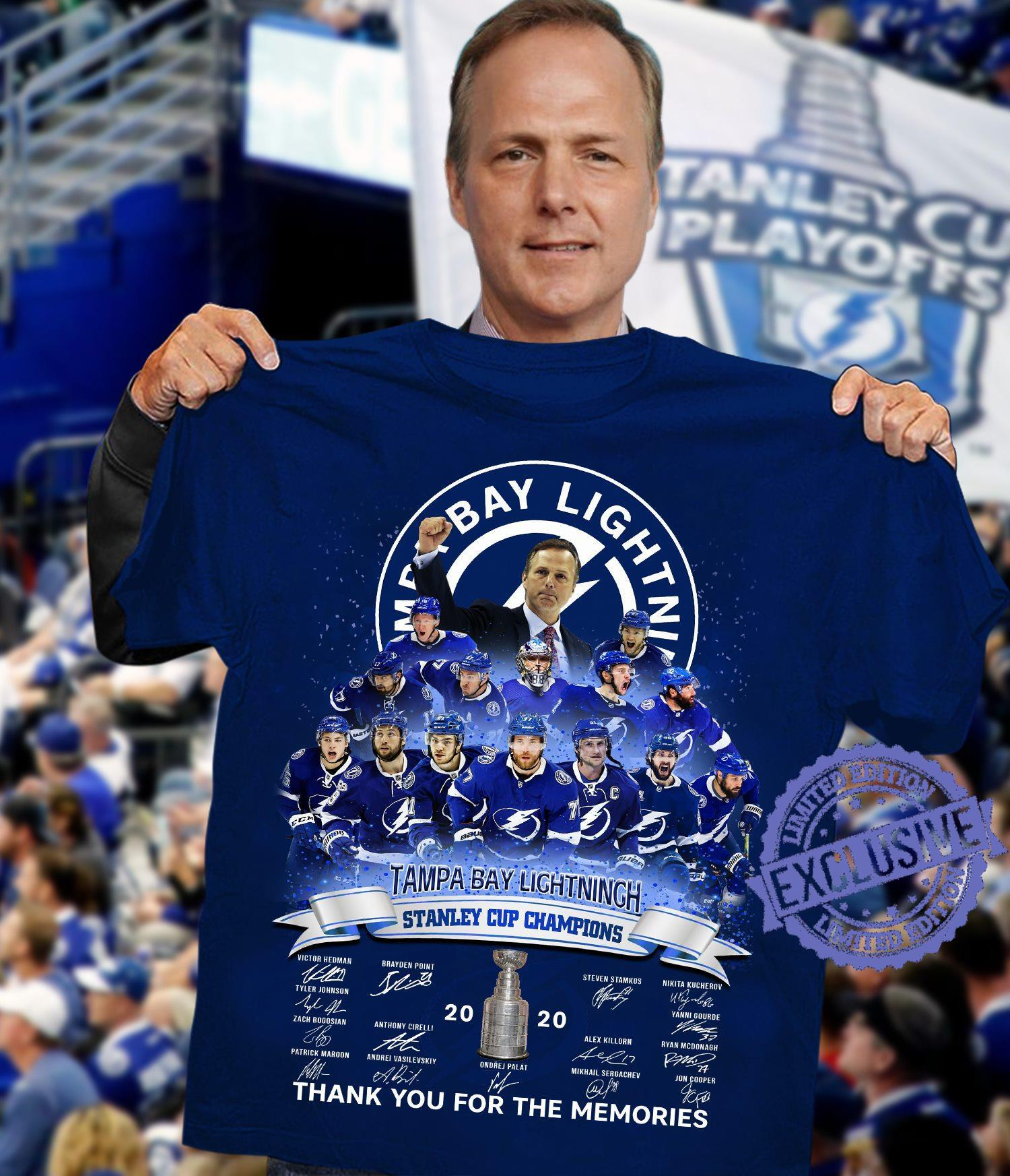 Tampa bay lightning stanley cup champions thank you for the memories shirt