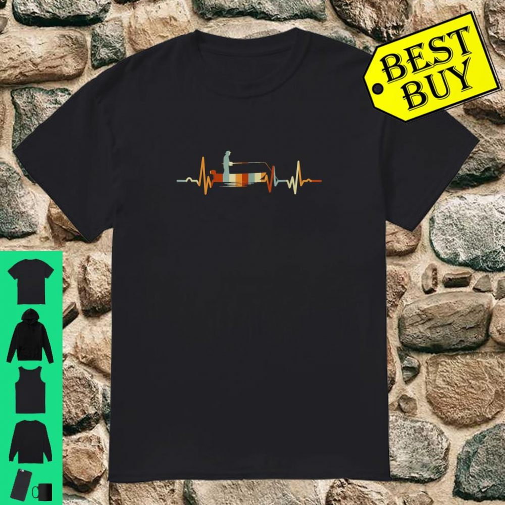 Vintage Fishing Heartbeat Shirt